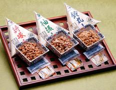 下仁田納豆『袖振・詩塚・鈴丸の大中小粒 3種 食べ比べセット』3種×4P(100g/P) ※冷蔵