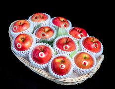 12/13〜18出荷 りんごのフルーツバスケット『こみつの香り』青森県石川地区産 シングル・ 約2kg(10〜12玉) ※常温