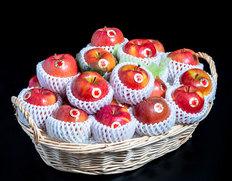 12/20〜25出荷 りんごのフルーツバスケット『こみつの香り』青森県石川地区産 ダブル・ 約4kg(20〜24玉) ※常温