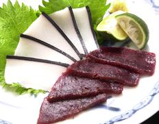 ミンク鯨の刺身セット 「赤身刺し身」約200g・「本皮」約100g ※冷凍