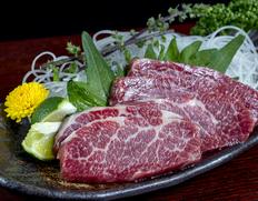 【熊本県肥育馬肉】『特選霜降り馬刺し』 約200g ※冷凍