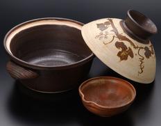手造りの土鍋 (藤田陽作)