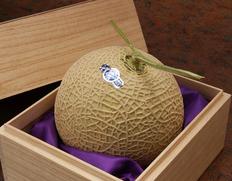 『クラウンメロン』静岡県産 木箱入 1玉(約1.3kg) ※常温